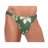 Green Leaf Mens Thong Swimwear -Closeout