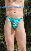 Green Amoeba Men's Thong