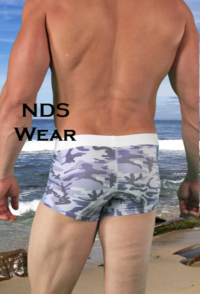 Cain's Sexy Grey Camo Swim Short