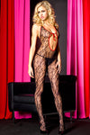 Halter Neck Red and Black Lace Bodystocking