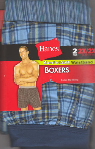 Hanes Comfortsoft 2XL Button Fly Boxers 2 PK