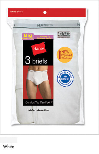 Hanes Big Mens Briefs 4XL 3 Pack