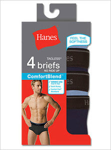 Hanes Comfortblend dyed mens briefs 4 Pack
