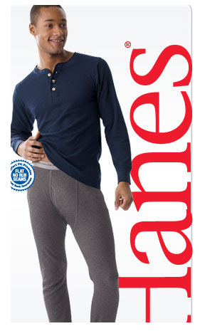 Hanes Thermal Pant Long Underwear - Colors 2XL