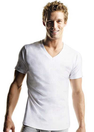 Hanes White V-Neck T-shirt 5 pack
