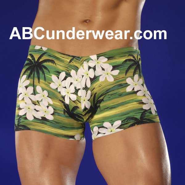 Green Hawaiian Swim Short