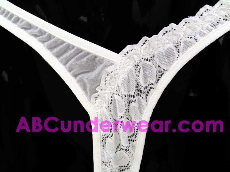Sheer Lycra Heart Lace Thong