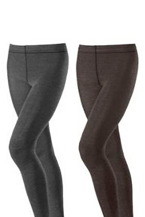 Classic Heather Denim Look Tights
