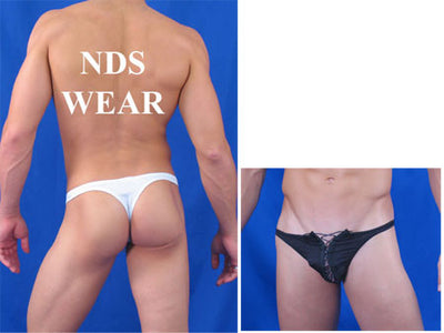 Jacquard Lace-up Men's Thong