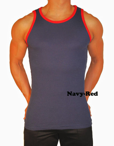 Robbie Contrast Mens Tank Top - Closeout