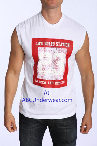Life Guard Station Mens Muscle Shirt