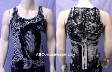 Lion Sword Mens Tank Top
