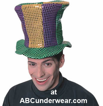 Mardi Gras Sequin Top Hat