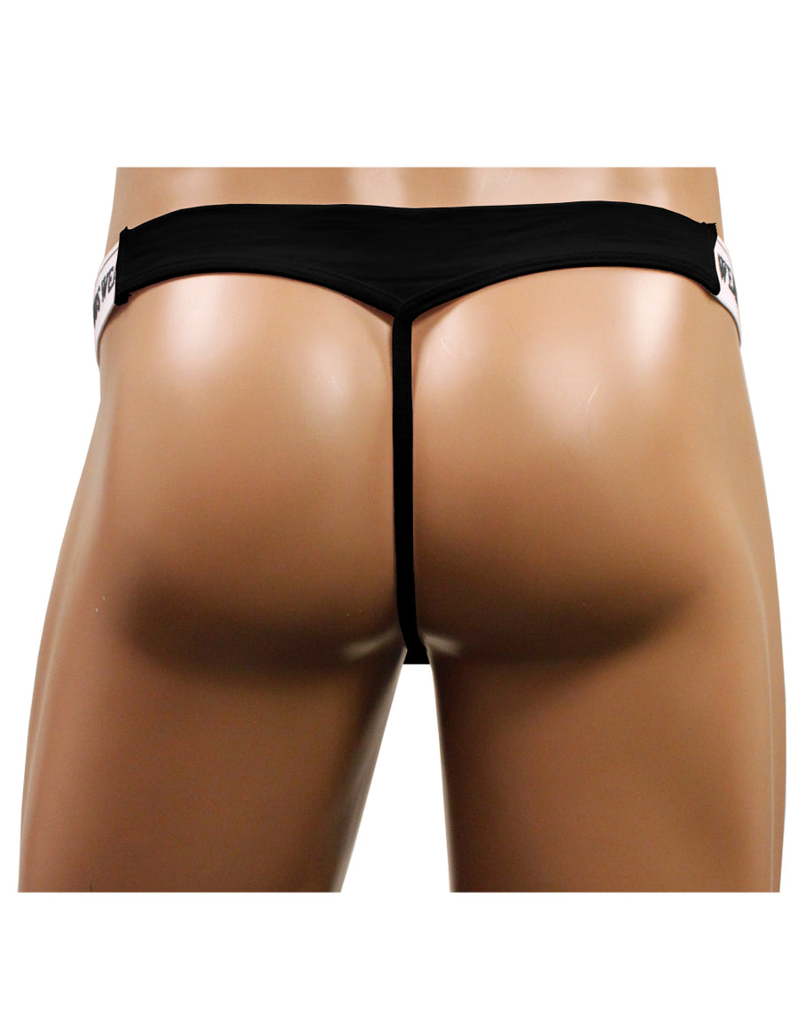 NDS Wear Mens Stretch Cotton Brazilian Thong Black