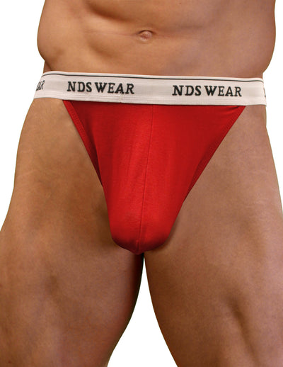 NDS Wear Mens Stretch Cotton Brazilian Thong Red
