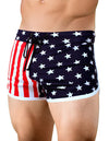 Men's American Flag Running Short or Swimsuit by Neptio