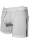 Mens Stretch Cotton Pouch Boxer Briefs Underwear - White