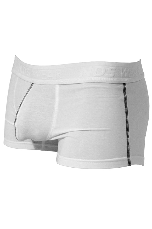 Mens Stretch Cotton Pouch Trunk Underwear - White