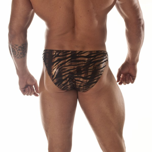 Metalic Tiger Men's Bikini Brief