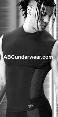 Microfiber and Netting Muscle Shirt - Clearance