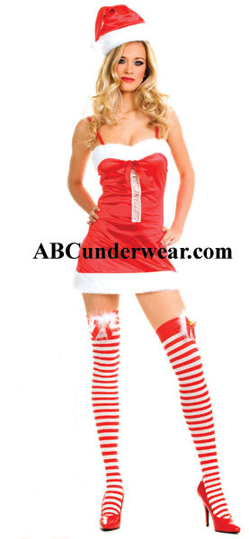 Miss Santa Dress With Hat - Discounted