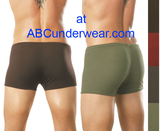 Male Power Ribbed Pouch Short - Closeout