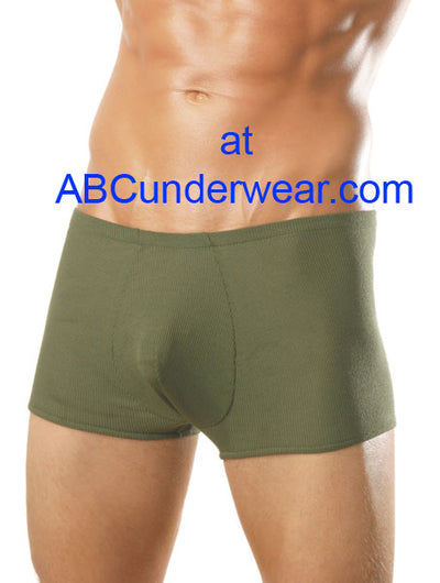Male Power Ribbed Pouch Short