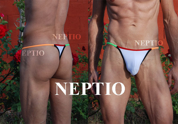 Mens Multi Color String Thong