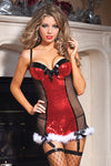 Naughty List Chemise Sheer Mini Dress