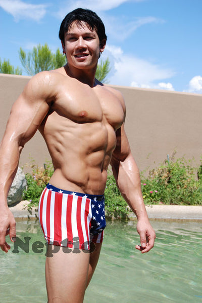 Neptio Stars & Stripes Square Cut Swimwear