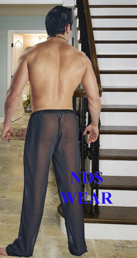 Net Lounge Pant, Sheer Men's Pants
