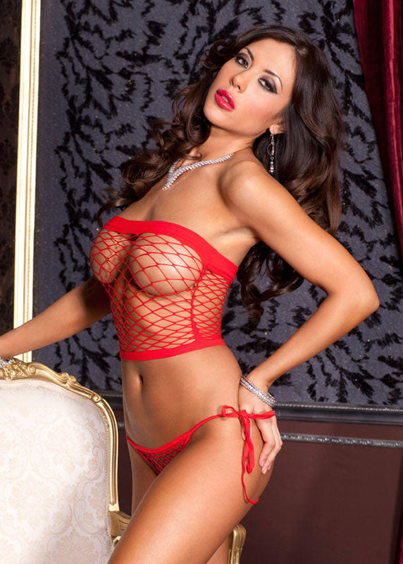 Mini Net Diamond Spandex Top & Thong