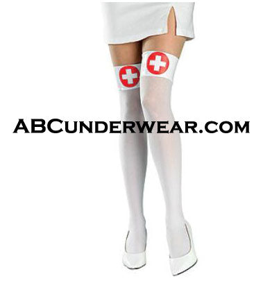 Nurses White Thigh Highs