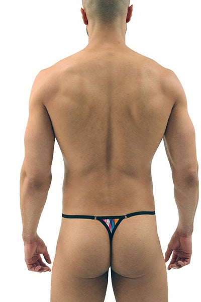 Painted Brush Stroke Print G-string - Men's Thong
