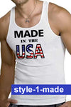 American Patriotic Ribbed Tanks - Choose Your Design