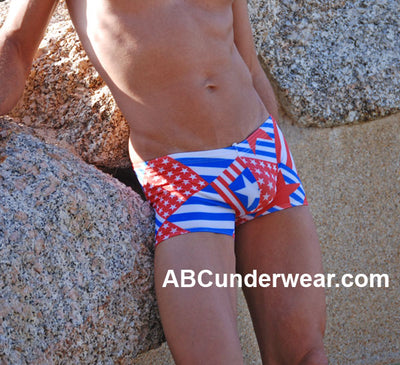 Patriotic Pouch Men's Swimsuit