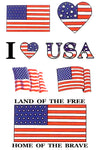 American Flag Patriotic USA Temporary Tattoos
