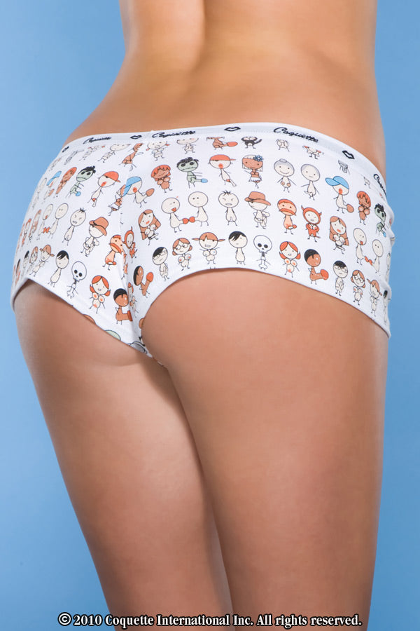 Naughty People Print Booty Short