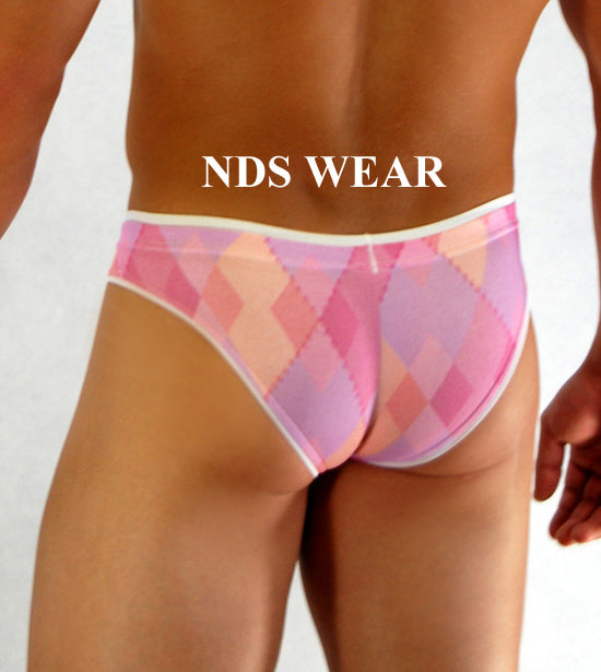 Men's Pink Diamond Brief