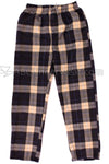 Mountain Cabin Plaid Fleece Pajama Pants - Hot Coffee
