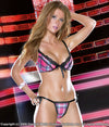 Plaid Lycra Underwire Bra and Thong