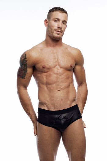 Pleather Snap Brief