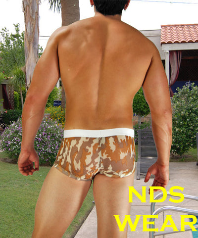 New Sheer Brown Camo Pouch Trunk