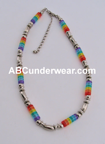 Rainbow Tube Necklace