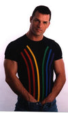 Gregg Homme Mens Rainbow T-Shirt - White Clearance