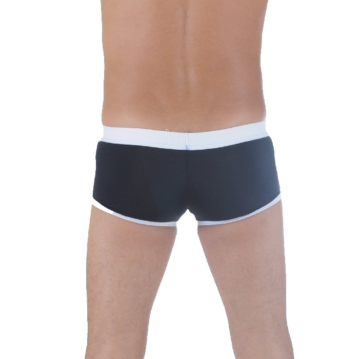 Mens Retro Runner Trunk Underwear - Black