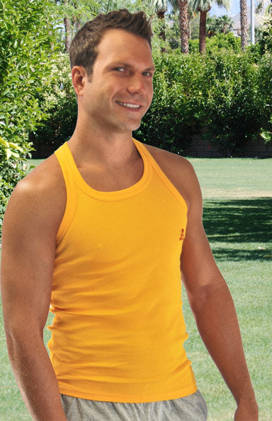 Ribbed Fitted Tank Top - Mens Shirt