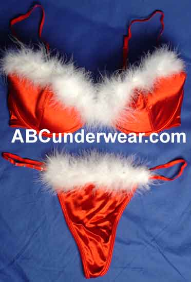 Miss Santa Bra Set - Clearance