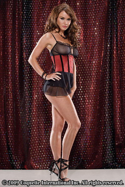 Satin Babydoll And G-String Set