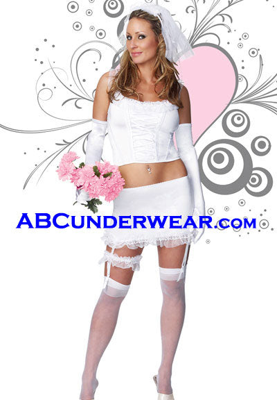 Sexy Blushing Bride Costume - Closeout